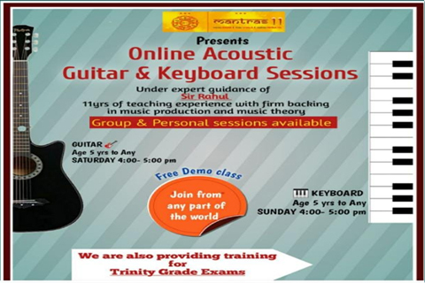 Mantras11 Online Acoustic Guitar and Keyboard Session